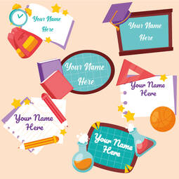Personalised PVC School Stickers