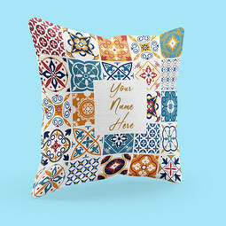 Personalised White Cushion